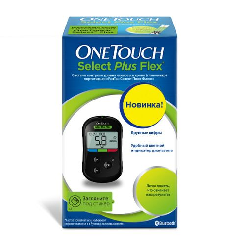 Глюкометр One Touch Select Plus Flex, 1 шт.